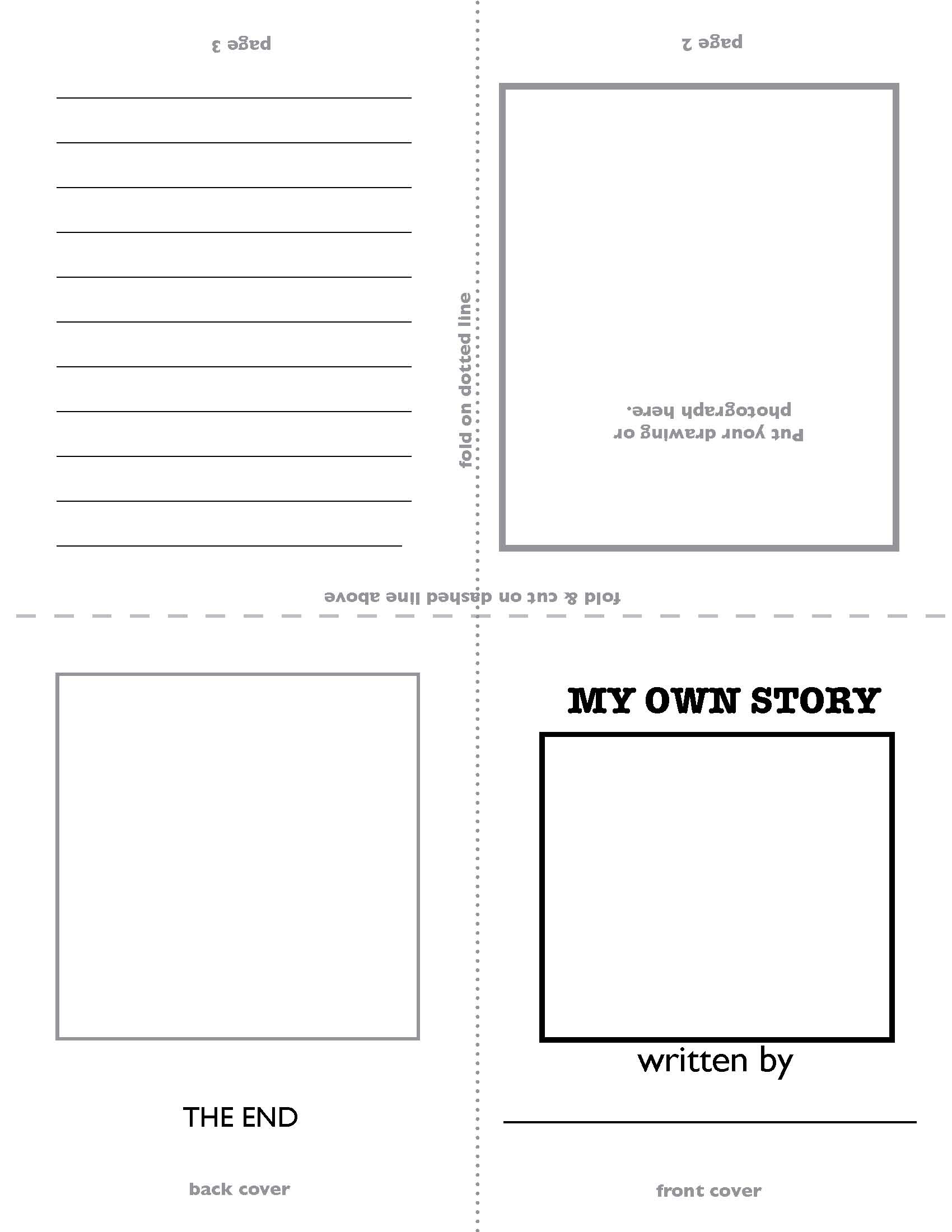Personal biography template for kids my own story template side one